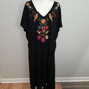 Johnny Was JWLA love embroidered dress